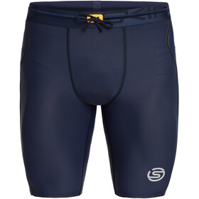 Skins Series-3 Half Tights Men, navy blue